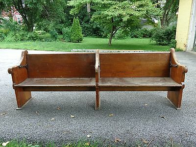 Rare Antique Reversible!!! 8 Foot Wood Church Pew, Unique!