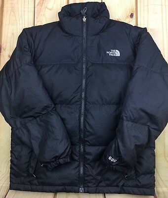North Face 600 Goose Down Black Jacket Ski Puffer Coat Kids Boys Snow