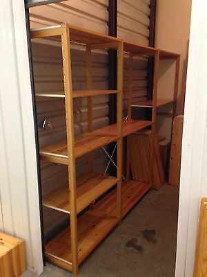 Large Lot Of Adjustable Pine Shelving - Over 90 Pieces - Organized Living - Used