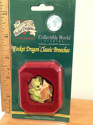 Pocket Dragon  Classic Brooches -  FAVORITE BOOK  - NEW