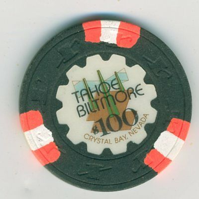 $100 chip from the Tahoe Biltmore, Crystal Bay, Nevada