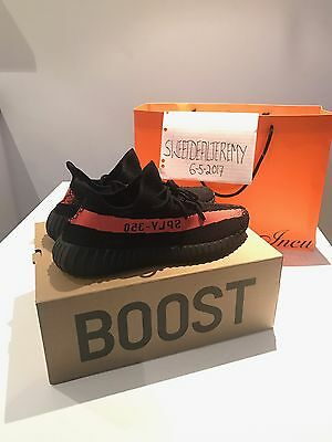 Adidas Yeezy Boost 350 V2 Core Black/red Sz13 **deadstock**