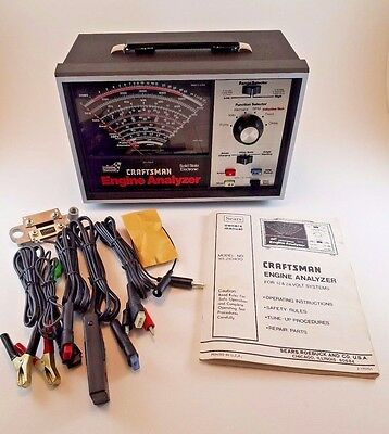 Sears Craftsman Engine Analyzer Solid State Electronic Tester #161.210400