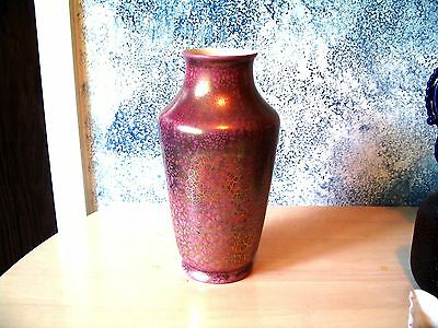 Rare Large Early  East Liverpool Ohio  Pink/purple Gold Marbleized Vase!!