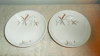 "2 Syracuse Carefree True China Finesse 6 5/8"" Coupe Soup Bowls 1958-1967"