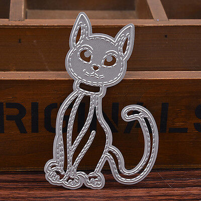 Cat DIY Cutting Dies Stencil Metal Scrapbook Embossing Card Album Paper Craft.