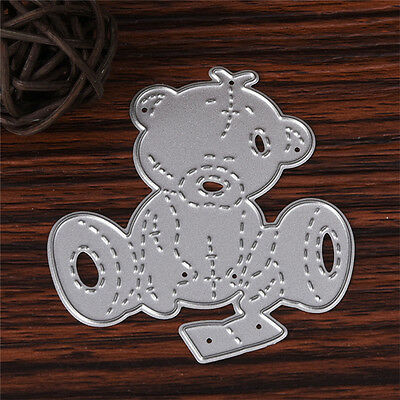 Bear Stencil Cutting Dies DIY Scrapbooking Paper Cards Embossing Craft