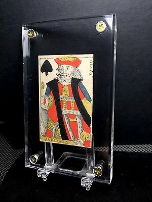 18th Century Colour Woodcut Historic Playing Cards Single Document Use  +COA
