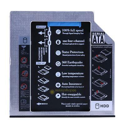 Hard Drive SATA 2nd HDD SSD Caddy for 9.5mm Universal CD / DVD-ROM Optical Bay #