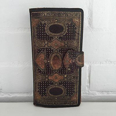 ANTIQUE Gold EMBOSSED Wallet Purse STUNNING Detail