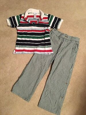 Janie And Jack Boys Top(4) Pants(5) Set Outfit Lot Size 4/5