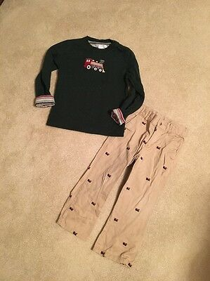 Janie And Jack Boys Reversible Top(4) Pants(4) Set Outfit Lot Size 4