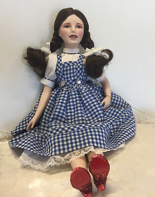 Dorothy from the Wizard of Oz Porcelain Doll by Franklin Heirloom Dolls