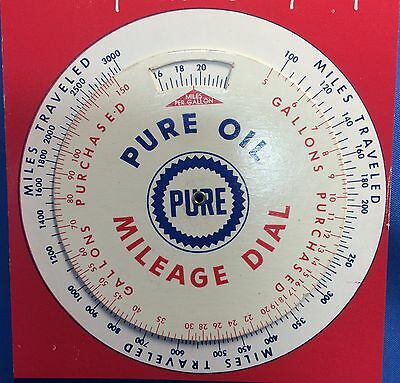 1960 Vintage Originl PURE OIL Mileage Dial GAS SERVICE STATION Premium Give Away