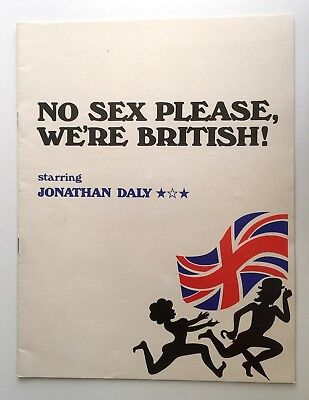 No Sex Please We're British 1973 Metro Theatre Programme Jonathan Daly