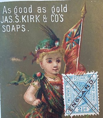 6 1890s Antique KIRK SOAP Advertising Victorian Trade Card England France Greece