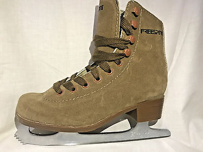 New Freesport Brown Suede Figure Ice Skates Limited Quantity..stock Clearance