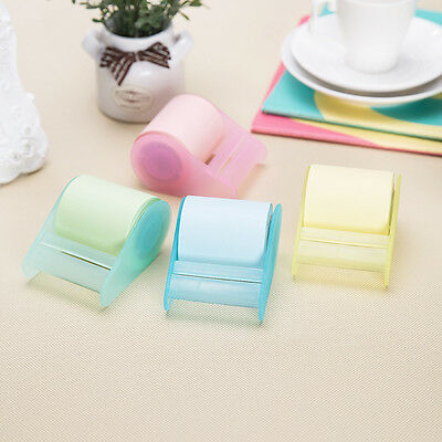 Fluorescent Paper Sticker Memo Pad Stationery Can Tear Reel Sticky Notes Tape CN