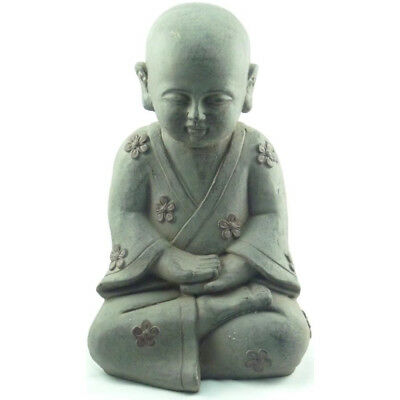 Sitting Buddha with Flower accents -