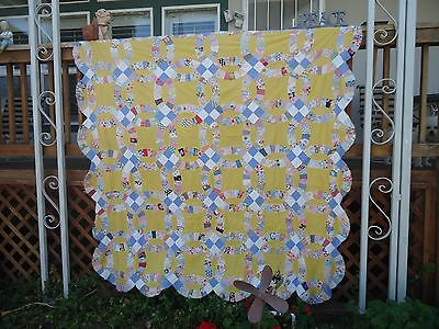 83x95in.old  vintage quilt TOP, hand cut and hand sewn/family history,12st. per""