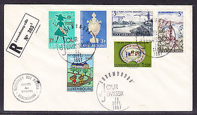 Luxembourg 1967 Registered R303 Letter to Pasadena USA