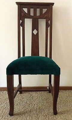 Antique High Back Dining / Hall Chair