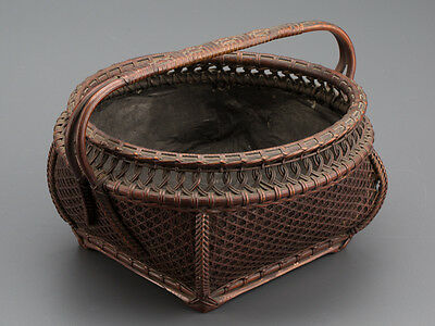 SENCHA Tea Accessory Chinese Finely Woven Charcoal Basket with Handle: BC711