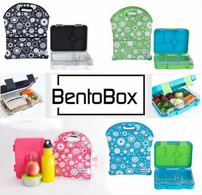 NEW Bentobox Section Lunch Box Kids Bento Container & Neoprene Insulated Bag