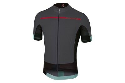 Castelli Men's Forza Pro Jersey - Anthracite/ Red-Size X-Large NEW