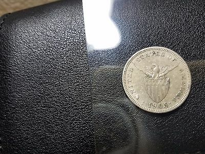 1905s 20 Centavos Recut 1,U.S.-Philippines,Tough Date.