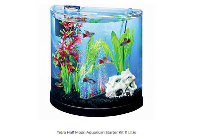 NEW Tetra ColourFusion 11L Half Moon Fish Tank 29041AU Suitable for Betta fish