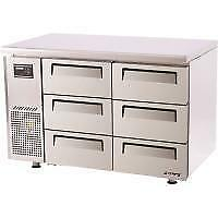 TURBO AIR - KUF12-3D-6 - UNDERCOUNTER FREEZER 6 DRAWERS. Weekly Rental $43.00