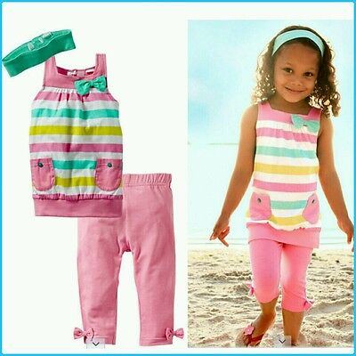 Girls birthday party pink mint top and pants set size 1