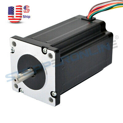 Nema 24 Stepper Motor 4Nm (566 oz.in) 3A 8-wire 8mm Dual Shaft Router