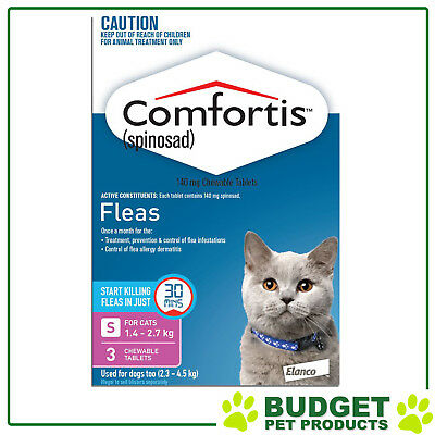 Comfortis For Cats 1.4-2.7kg Pink 3 Tablets