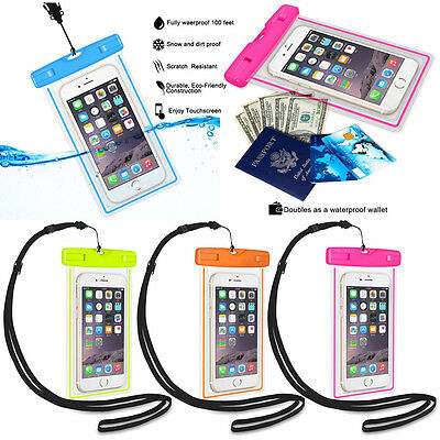 AU Diving Swimming Waterproof Case Bag Wallet Protect Phone from Water Sand Dust