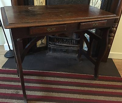 Antique Oak Clerks Work Table- Stamped HM Stationery Office. Late 1800's