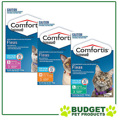 Comfortis For Cats Flea Treatment 3 Packs - All Sizes