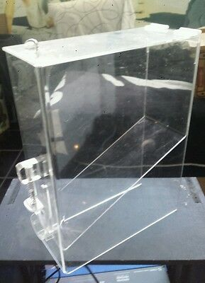 NEW ACRYLIC CLEAR. GRAVITY BIN 3-gallon