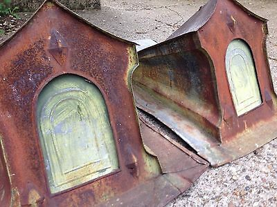 Rare and unusual pair of French Pigeonairres with lovely weathered patina