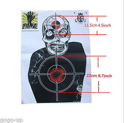 Zombie Target Paper Shooting Targets Game and Skill Challenge Targets Practice