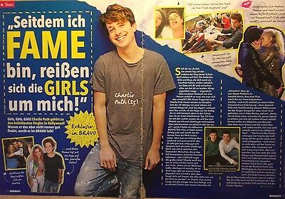 2 german clipping CHARLIE PUTH SINGER N. SHIRTLESS BOY BAND ROCK BOYS GROUP NEW