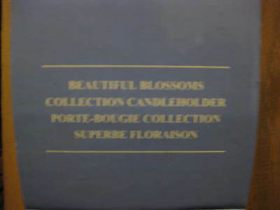 NEW Avon Beautiful Blossoms Collection Taper Candleholder NIB floral porcelain