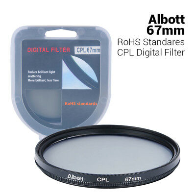 67mm Slim CPL Circular Polarizer Digital Lens Filter for Nikon Canon Sony Camera