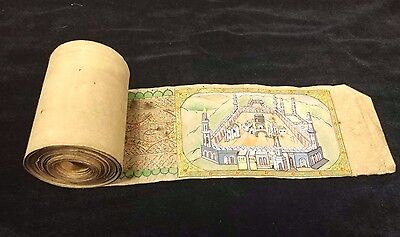30 feet Koran Roll - Quran Scroll with Real Gold leafing Work & Mecca Painting
