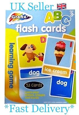 Graft Flash 52 Cards ABC  Learning Game Problem Solving Letters & Colours -B70PS