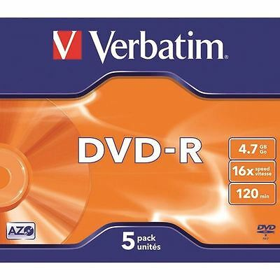 Verbatim 4.7GB 4x Speed Jewel Case DVD+RW (Pack of 5) 43246 [VM43168]