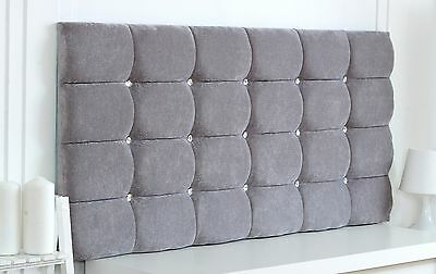 *new* Diamante Super Cube Suede Headboard Choose Your Size + Colour + Free P & P
