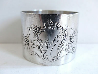 ANTIQUE FRENCH ALL STERLING SILVER 950 NAPKIN RING n3