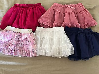 5x Baby Girls Skirts Size 0